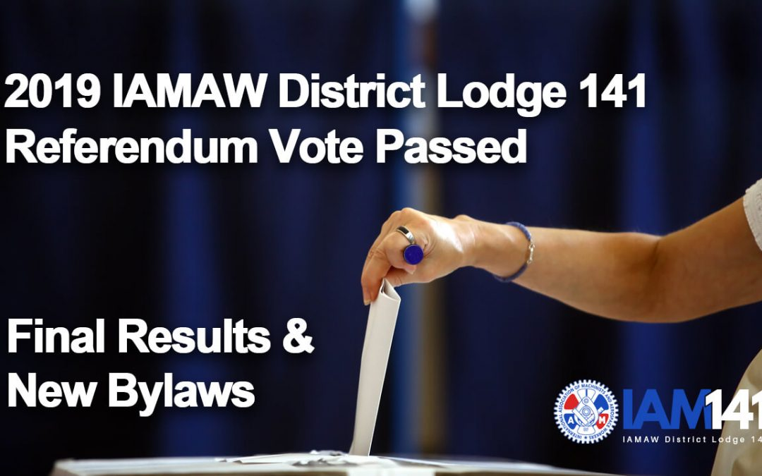 2019 Bylaw Referendum Vote Passed Final Results & New Bylaws