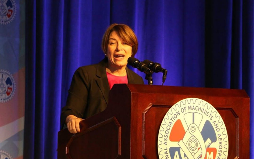 Presidential Candidate Amy Klobuchar Talks Mega Mergers Praises Union Activism